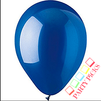 Royal Blue Natural Latex Balloons x 15