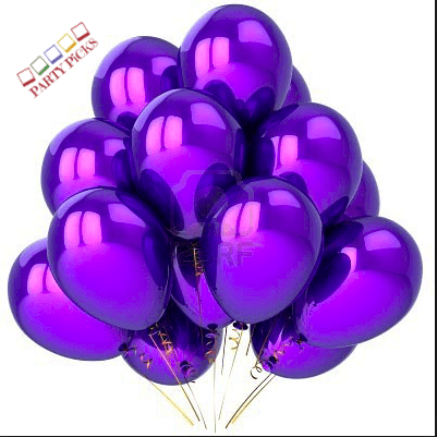 Deep Purple Natural Latex Balloons (15)