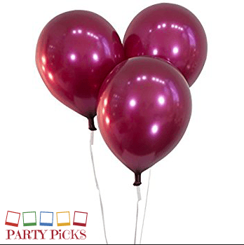Burgundy Natural Latex Balloons (15)