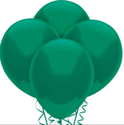 Hunter Green Natural Latex Balloons (15)