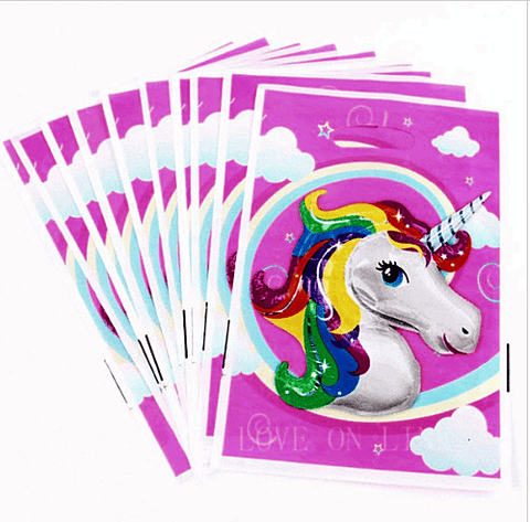 The Unicorn Party Loot Bags x10