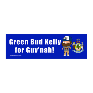 Bumper Sticker - Green Bud Kelly For Governor