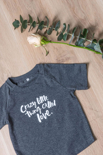 A Crazy Little Thing Called Love Mini Tee - Charcoal