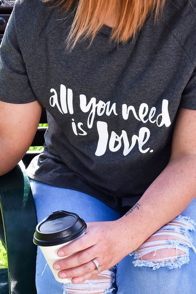 All You Need is Love Mummy Tee - Charcoal