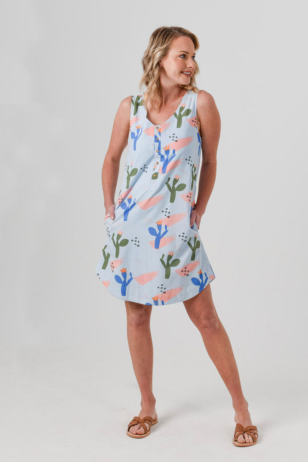 Ava Reversible Mama Cactus Dress *only sizes 6, 8 and 10 left