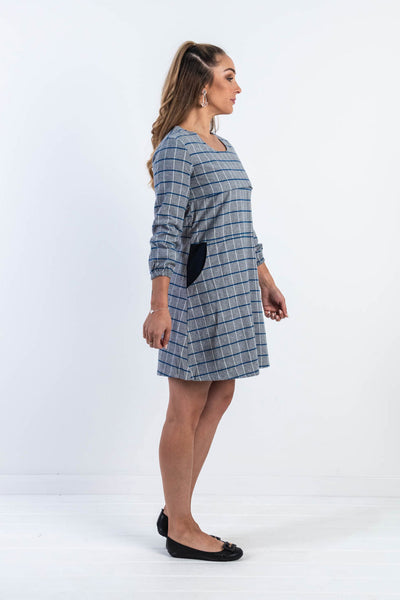 Avery Grid Skater Dress (SIZE S and M LEFT, FINAL SALE)