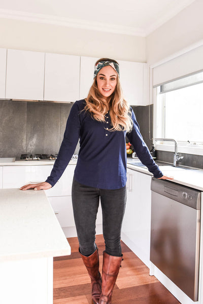 Brooke Tee Winter Essentials 3-Pack Bundle - Grey Short, Mint Long, Navy Long Sleeves