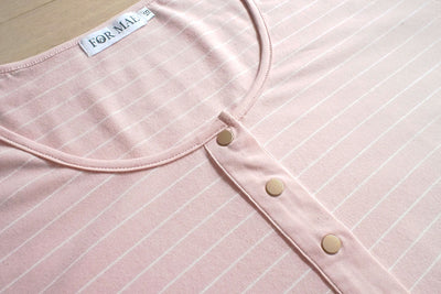 Brooke Short Sleeve Tee V3.0 - Blush Stripe