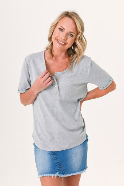 Brooke Short Sleeve Tee 3-Pack Summer Bundle - Black, Grey, Sage (ONLY SIZE 10 LEFT)