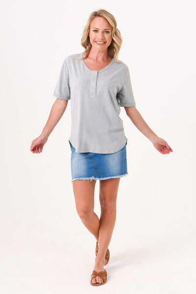 Brooke Short Sleeve Tee 3-Pack Ice Bundle - Black, Grey, Ash Blue