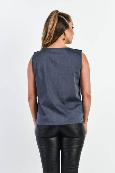 Knot Me Down Top - Navy (FINAL SALE)