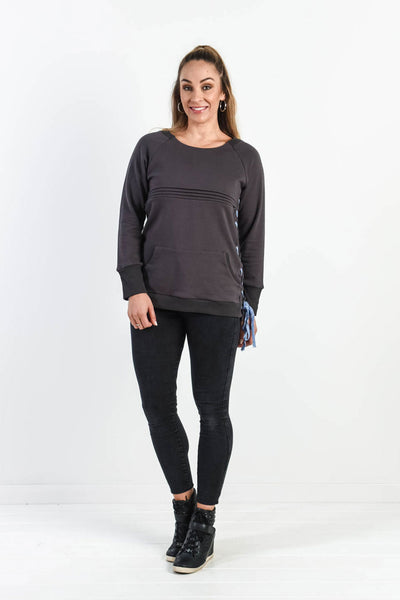 Lace It Up Sweat Top (FINAL SALE, M left)