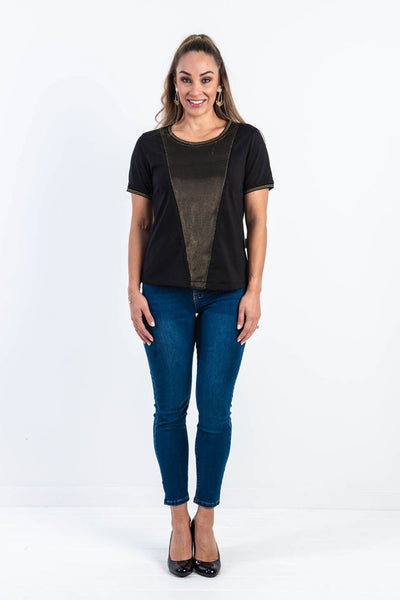 Let's Rock Gold Panel Top (FINAL SALE)
