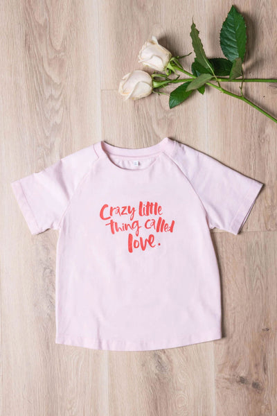 A Crazy Little Thing Called Love Mini Tee - Blush