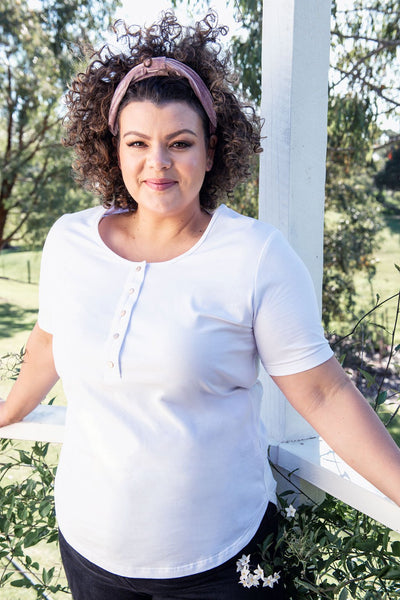 Plus Size White Nursing T-shirt