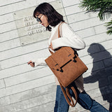 PU Leather Flap Backpack with Hook - Siscloset