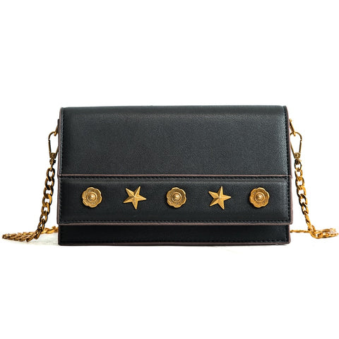 Retro Star Decorated PU Crossbody Bag - Siscloset