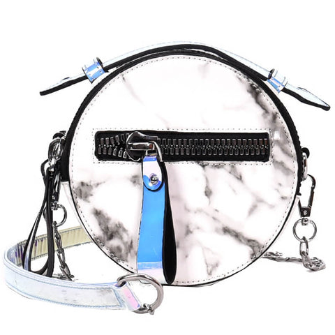 Marble Design Cute Round Bag - Siscloset