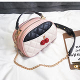 Cherry Detailed Handbag - Siscloset
