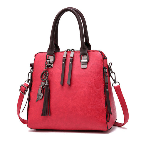PU Shoulder Bag with Cute Tassel - Siscloset