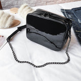 Mini PU Crossbody Bag with Chain Strap - Siscloset