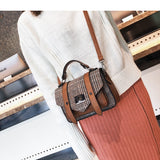 Lattice PU Flap Crossbody Bag - Siscloset
