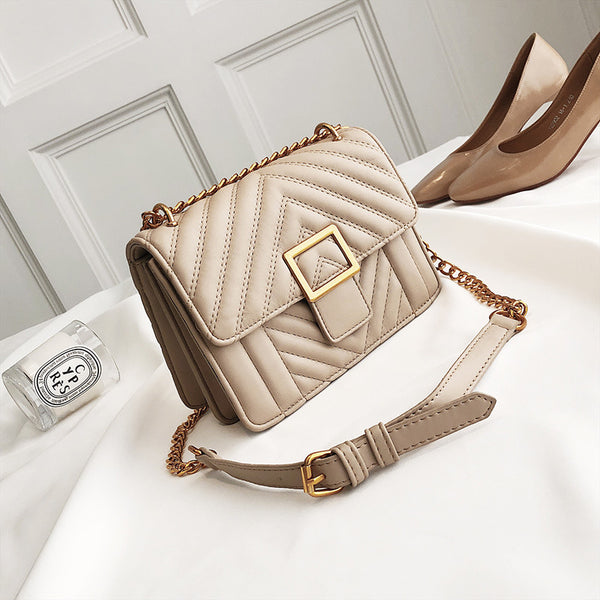 Square Buckle Decorated PU Crossbody Bag - Siscloset