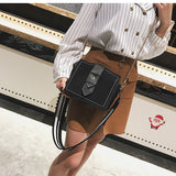 Retro Suede Crossbody Bag with Wide Strap - Siscloset
