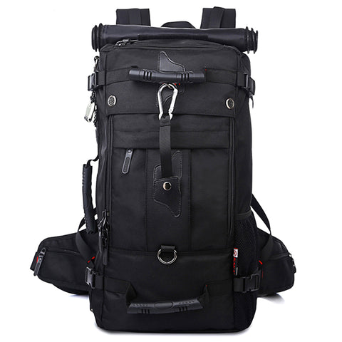 Multi-functional Waterproof Oxford Backpack Black Hiking Bag - Siscloset