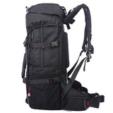Multi-functional Waterproof Oxford Backpack Black Hiking Bag with Lock - Siscloset