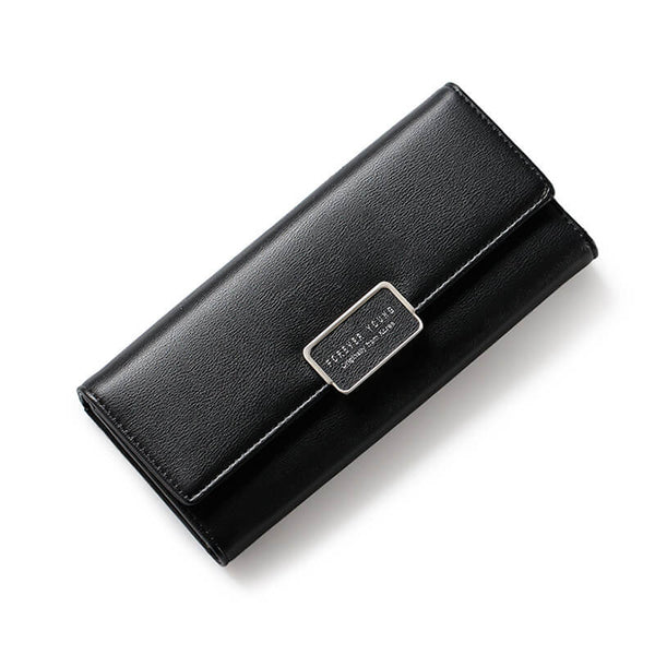 PU Leather Wallet with Square Buckle - Siscloset
