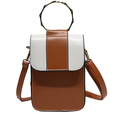 Metal Ring Hook PU Crossbody Bag - Siscloset