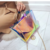 Iridescent Jelly Bag with Inner Pouch - Siscloset
