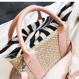 Fresh Summer Straw Bag Set - Siscloset