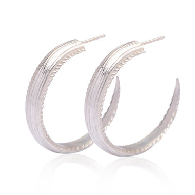 Large Ray Hoop Earrings
