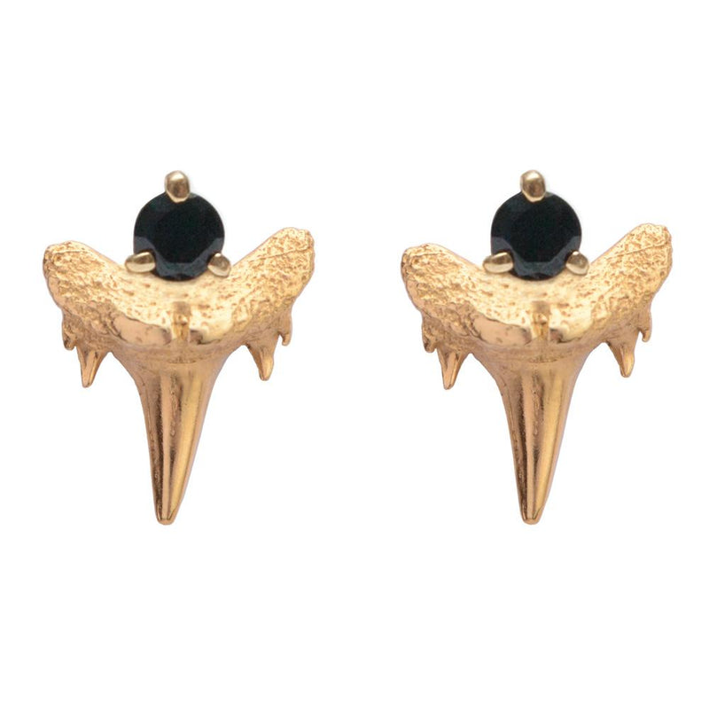 FERA Stone Set Shark Tooth Stud Earrings