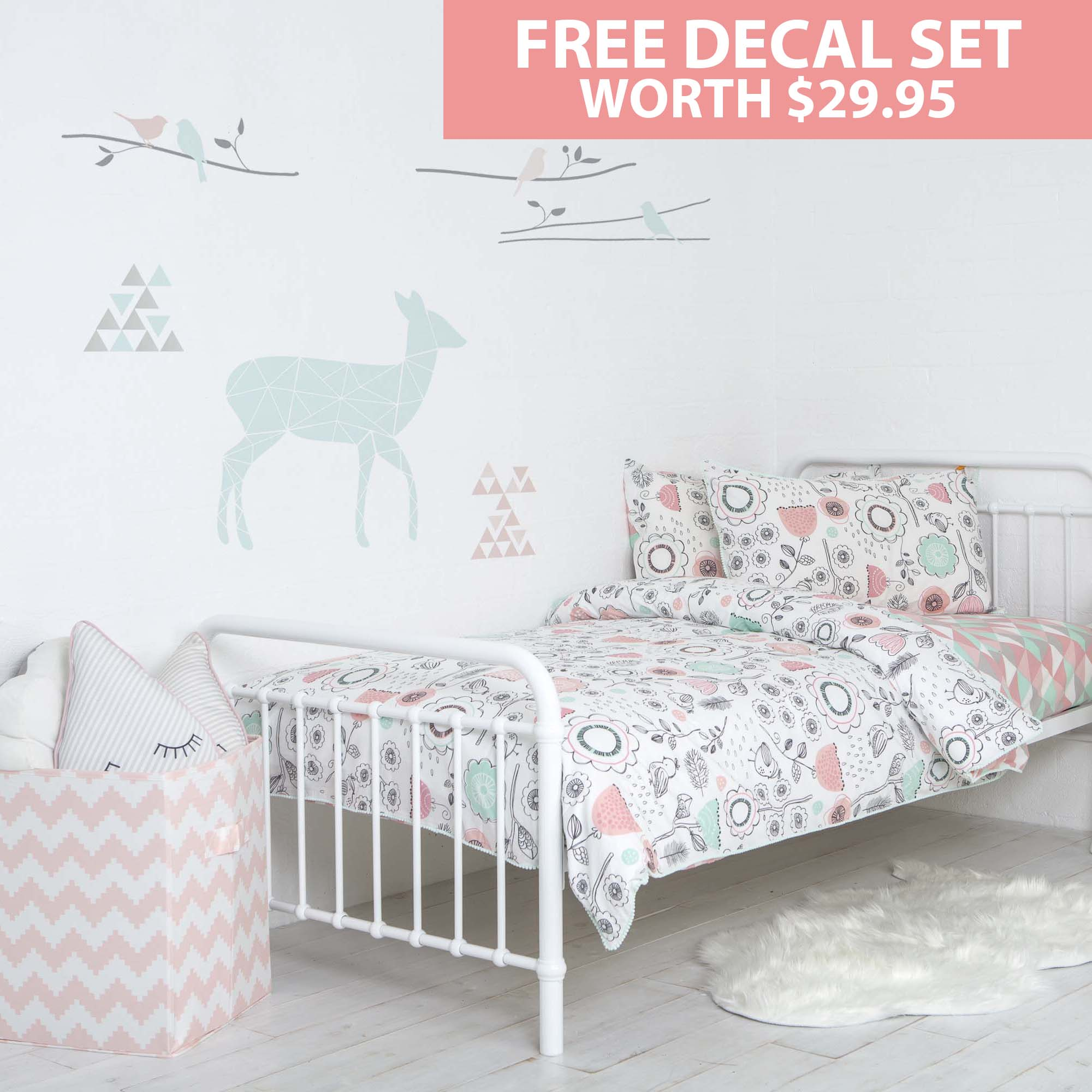Sparrow Single Bed Duvet U0026 Sheet Set