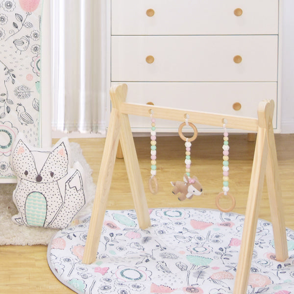 Play Mat With Milestone Cards Forest Friends Lolli Living