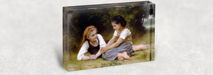William Bouguereau Acrylic Block