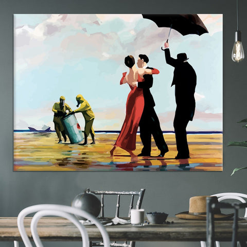 Banksy Toxic Beach Canvas Print or Poster
