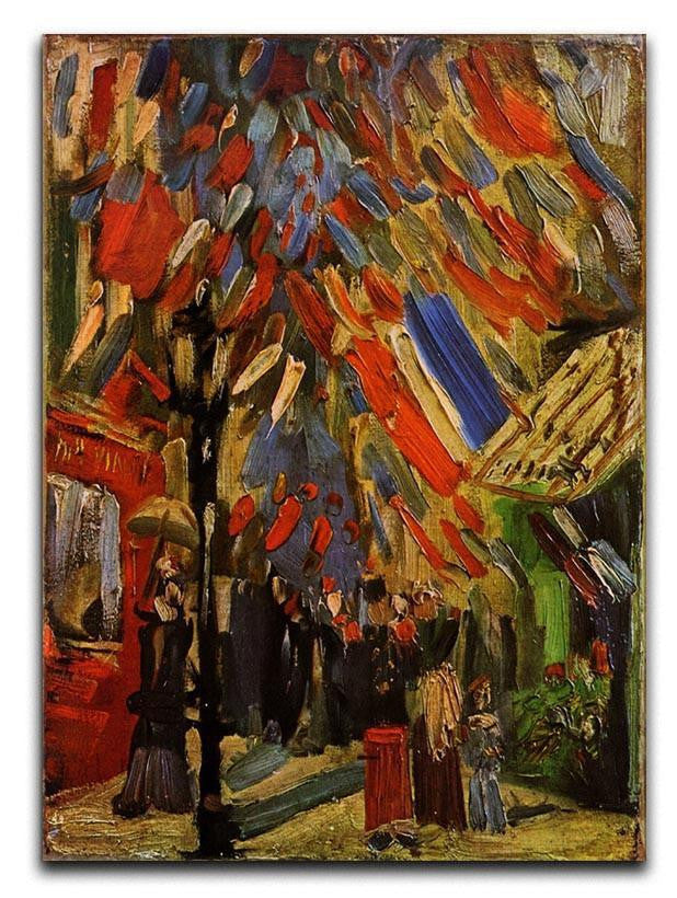 14 July in Paris by Van Gogh Canvas Print or Poster