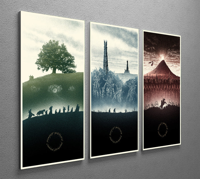 Lord Of The Rings Story 3 Split Panel Canvas Print