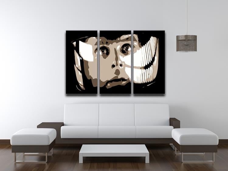 2001 A Space Odyssey Close Up 3 Split Panel Canvas Print - US Canvas Art Rocks