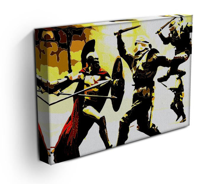 300 Movie Fight Scene Print - Canvas Art Rocks - 3