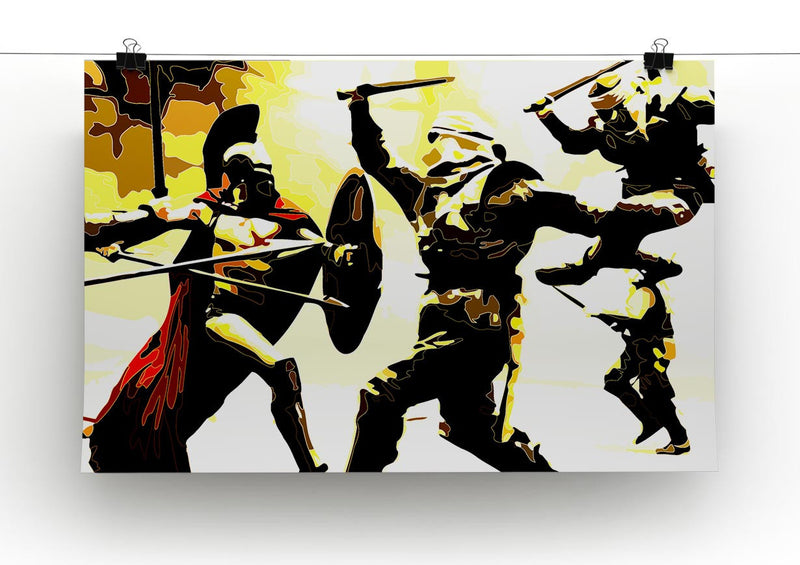 300 Movie Fight Scene Print - Canvas Art Rocks - 2