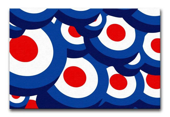 Mod Target Repeating Pattern Canvas Print or Poster