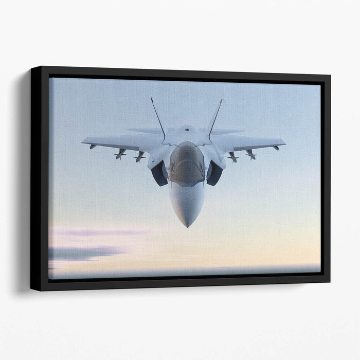 3D Jet F-35 fighter Floating Framed Canvas