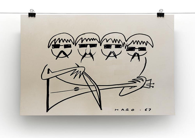 A Beatles Cartoon by Haro Canvas Print or Poster - Canvas Art Rocks - 2
