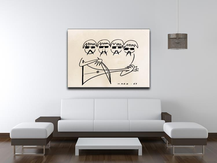 A Beatles Cartoon by Haro Canvas Print or Poster - Canvas Art Rocks - 4