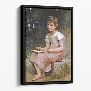 A Calling 1896 By Bouguereau Floating Framed Canvas